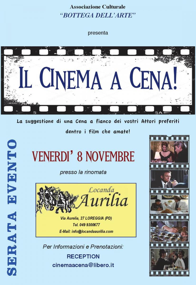 il cinema a cena