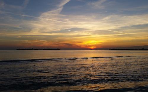 Magico tramonto a Venice